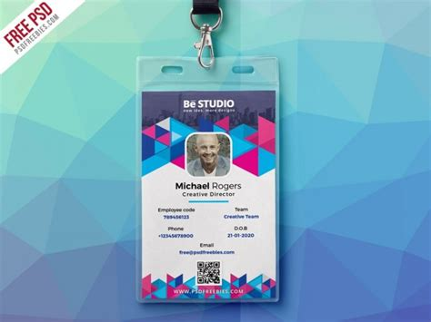 id card design template photoshop creative office id card free psd download download psd