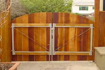 how to build a double swing wooden gate adjustable steel gate kits for wood fences hoover fence