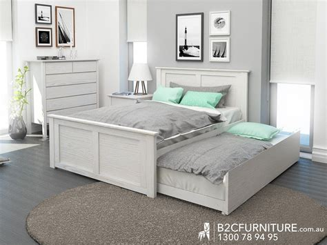 With Trundle Bed by Rustic Whitewash Trundle Bed Modern Design Guest