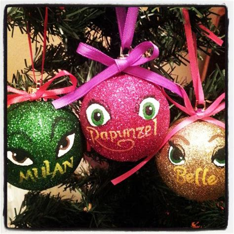 disney princess christmas ornaments diy images
