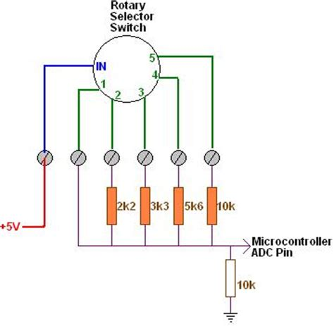 resistor selector saving io pins with simple resistor ladder and adc reuk co uk