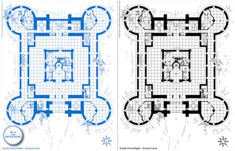 castle blueprint 216 one s blueprints the ruined town castle falconflight