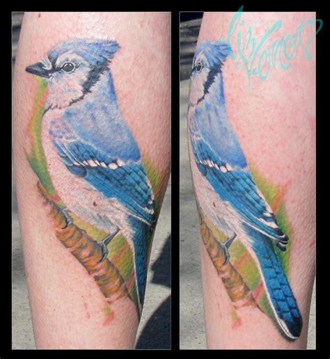 blue jay tattoo blue by liz venom from bombshell www