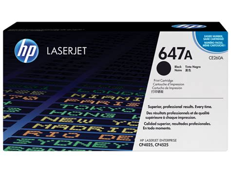 Toner Hp Ce260a 647a Black hp 647a black laserjet toner cartridge
