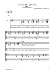 Seasons In The Abyss guitar pro tab by Slayer