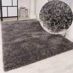 teppiche grau shaggy teppich hochflor langflor leicht meliert qualitativ