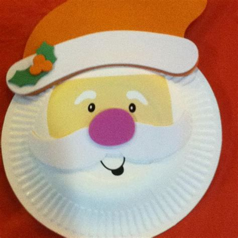 santa craft with paper plate crafts