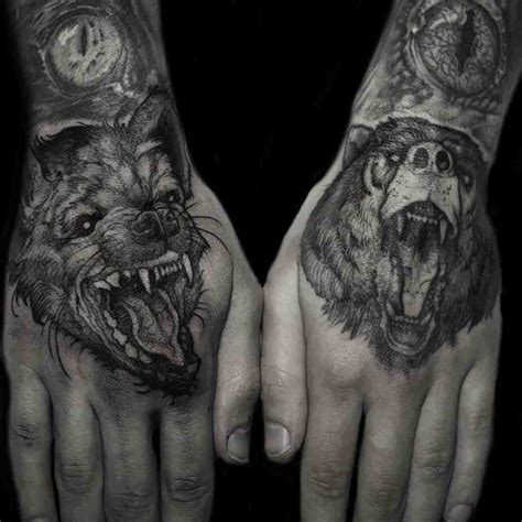 animal tattoo on hand animal hand tattoos best tattoo ideas gallery