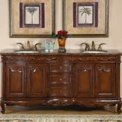 19 Inch Bathroom Vanity Silkroad Exclusive Stone Counter Top Double Sink Cabinet