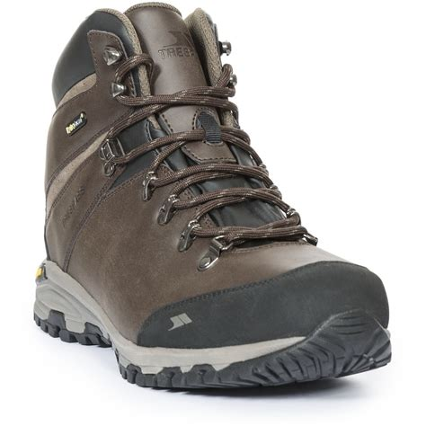 trespass mens cantero mid cut leather waterproof hiking