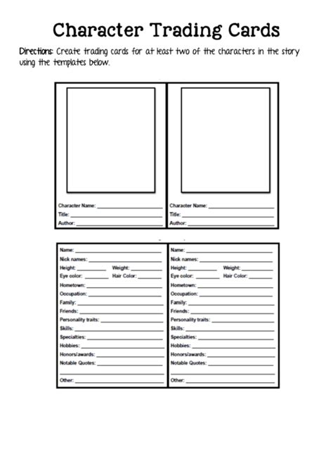 docs trading card template 2 trading card templates free to in pdf