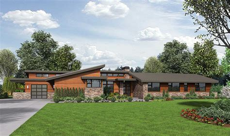 modern rancher stunning contemporary ranch home plan 69510am 1st