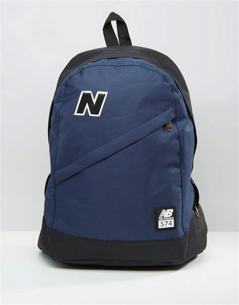 Backpack New Balance Blue new balance new balance 574 backpack in blue at asos