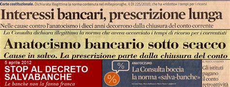 interessi banche italiane anatocismo gogna mediatica per banche