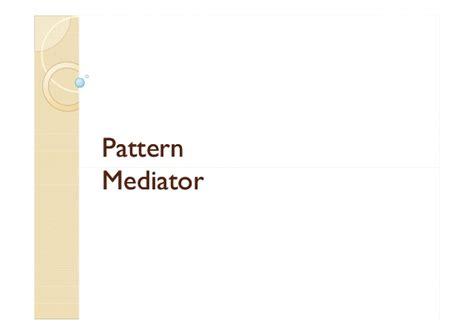 mediator pattern là gì cours design pattern m youssfi partie 8 stat template