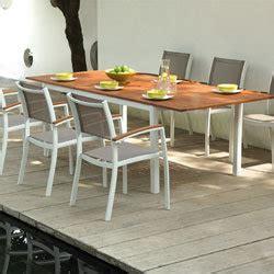 gartenmöbel geschenkt tischgruppe carla 240 cm aus aluminium und eukalyptusholz