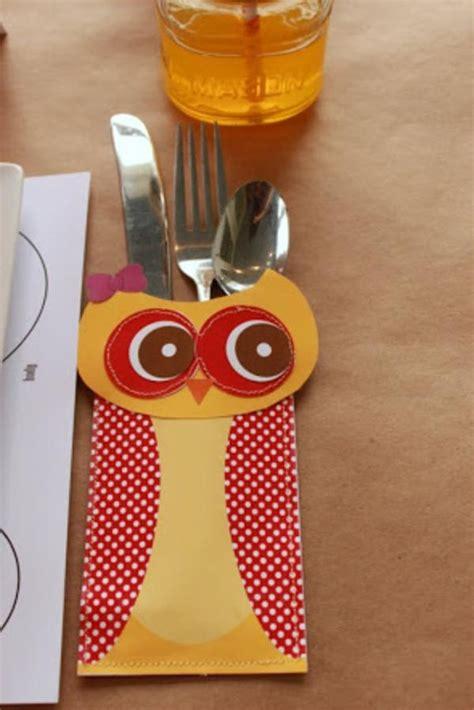 printable thanksgiving utensil holder porta talheres corujinha festas e curiosidades