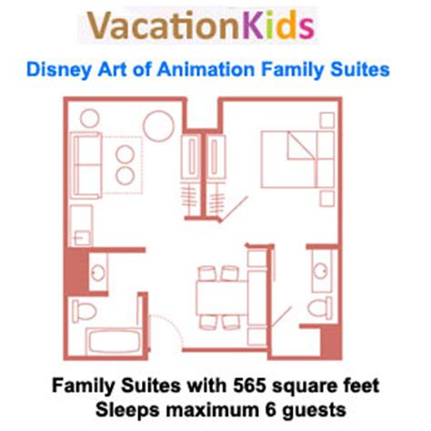 art of animation family suite floor plan art of animation finding nemo