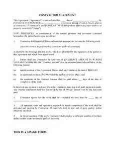 Contractor Agreement Template Canada canada construction contractor agreement legal forms and