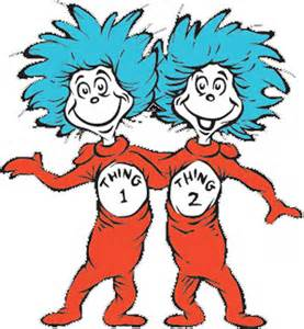 Seuss coloring pages thing 1 and thing 2 thing one and thing two