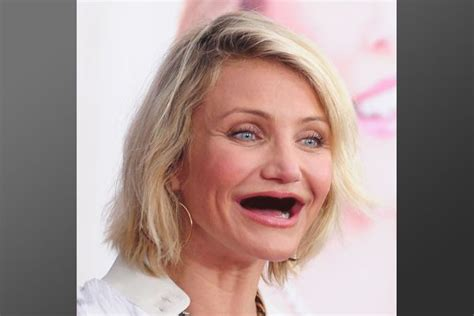 Cameron Diaz Keeps On Saying Dumb Stuff by Top 25 Funniest With No Teeth Photoshopped