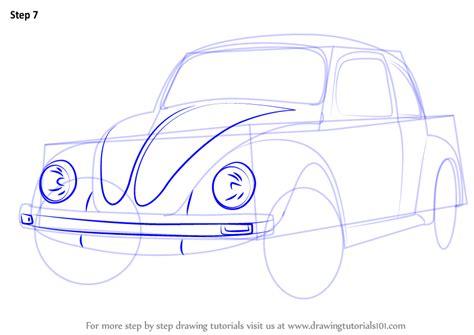 old volkswagen drawing learn how to draw vintage volkswagen beetle vintage step