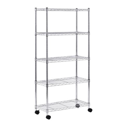 sandusky 5 shelf light duty mobile wire shelving unit 30