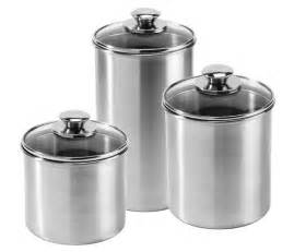 Kitchen Canisters Stainless Steel by Amco Stainless Steel Canister Set 3 Piece Cutlery And More