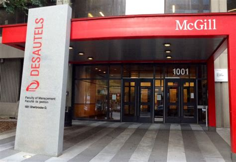 Mcgill Desautels Mba Fees by The Desautels Faculty Of Management At Mcgill