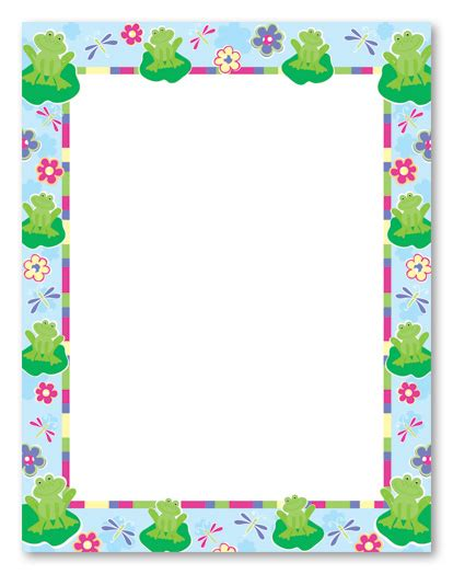 frog border writing paper frog border cliparts co