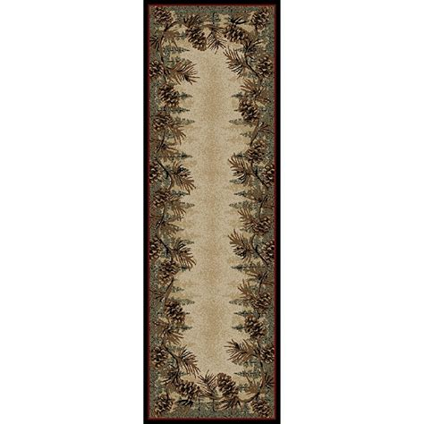 Pine Cone Area Rugs Pine Cone Border Area Rugs