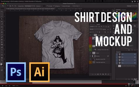 how to design a shirt using adobe illustrator how to design a shirt make a mockup adobe illustrator