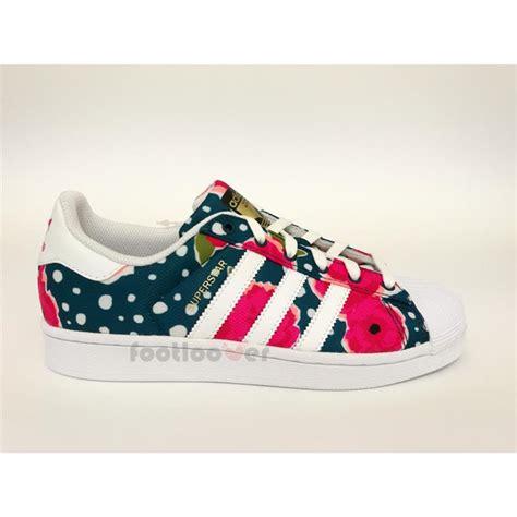 shoes adidas superstar junior s80140 white watersea pink flower ebay