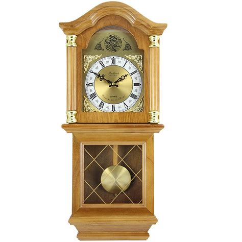 Bedford Classic 26 Quot Golden Oak Chiming Grandfather Wall