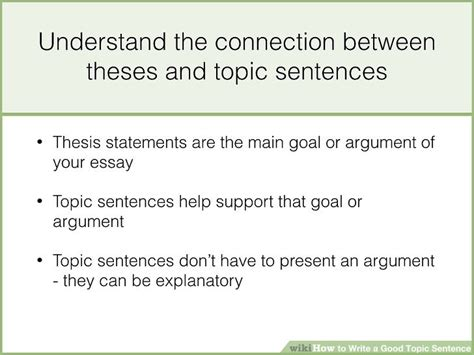 How To Make A Topic Sentence For A Research Paper - how to write a topic sentence with sle topic