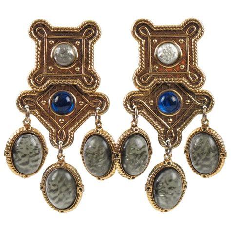 Chandelier Clip On Earrings Zoe Coste Baroque Chandelier Clip On Earrings Poured Glass Cabochon For Sale At 1stdibs