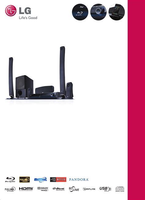 lg electronics home theater system lhb977 user guide