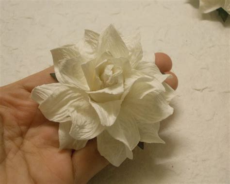 Mulberry Paper Crafts - 4 paper flowers size 3 mulberry paper craft flower