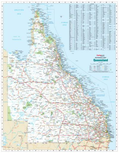 printable qld road map laminated wall maps qld queensland reference map