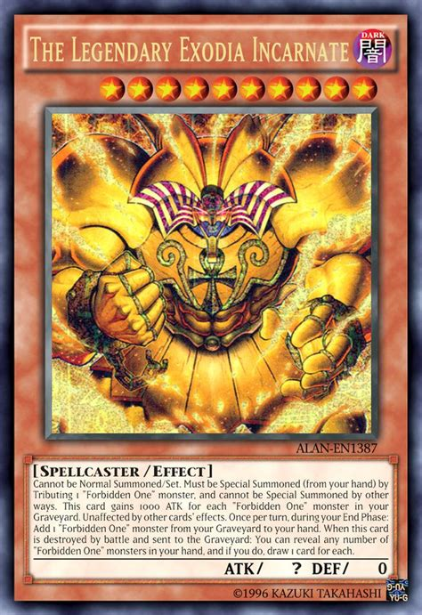 Yugioh Soldier Shield Mp16 En157 Ultra the legendary exodia incarnate by alanmac95 on deviantart trading card
