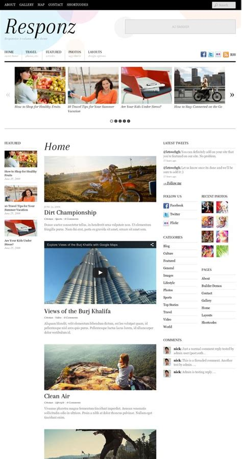 wordpress review layout themify responz theme review read this