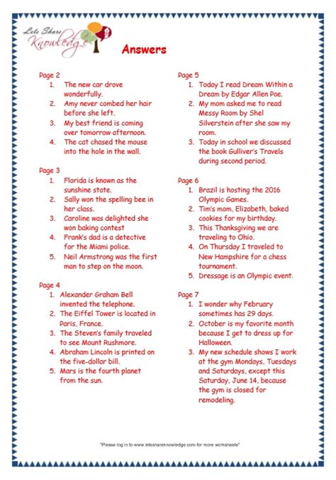 Grammar Worksheets Answers by 28 Punctuation Worksheets For Grade 3 With Answers