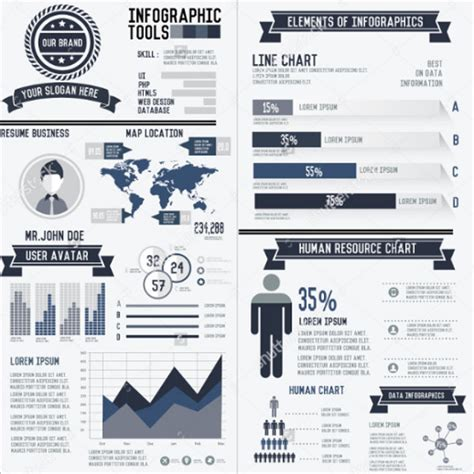 18 word infographic resume templates free pdf ppt