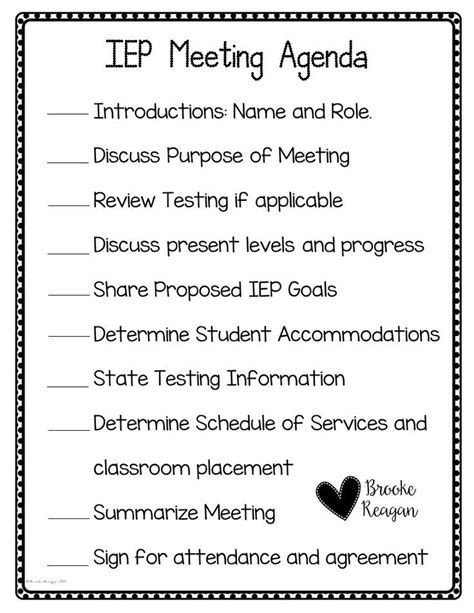 iep meeting agenda template 25 best ideas about special education organization on