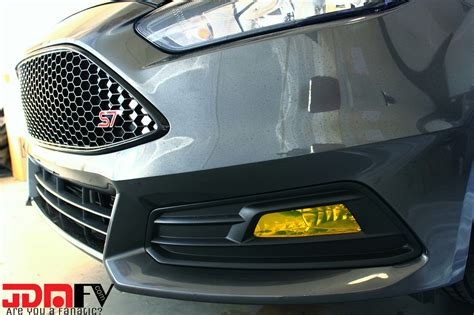 ford focus fog lights 15 16 ford focus st precut yellow fog light overlays tint