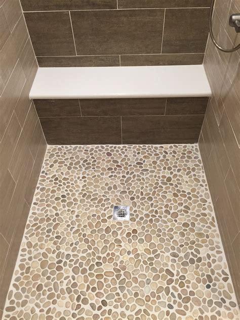 Shower Pan Or Tile Floor by Glazed Java Pebble Tile Shower Pan Pebble Tile Shop