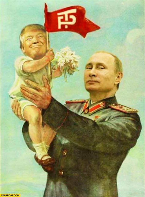 Babies R Us Toddler Bed Putin Holding Baby Donald Trump Photoshopped Painting