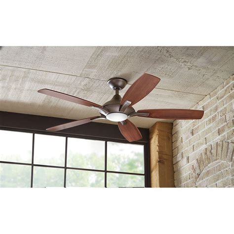 petersford 52 in led brushed nickel ceiling fan hdc petersford 52 in led ceiling fan brushed nickel