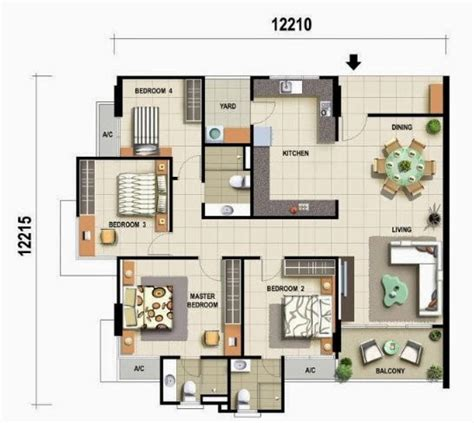 Feng Shui Floor Plan by