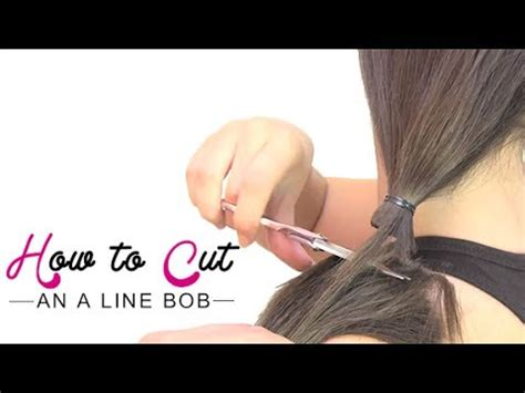 how to cut own a line hairstyles how to cut an a line bob youtube